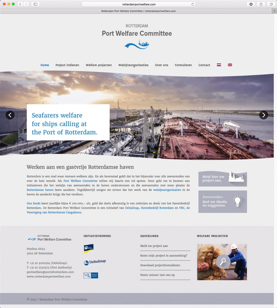 Website Rotterdam Port Welfare Committee